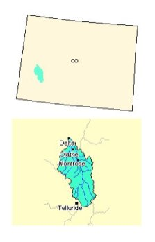 Uncompahgre River watershed