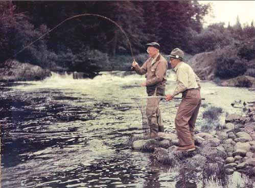 Ike enjoying the Fraser River back in the day