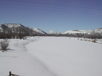 Yampa River east of Maybell March 2008