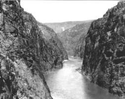 Colorado River, Black Canyon back in the day, site of Hoover Dam