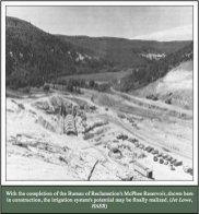 Mcphee Reservoir construction