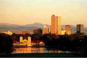 Denver City Park sunrise