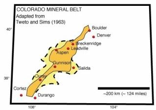 Colorado Mineral Belt via Wikipedia
