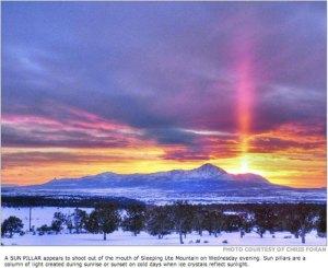 Sleeping Ute Mountain via the Cortez Journal