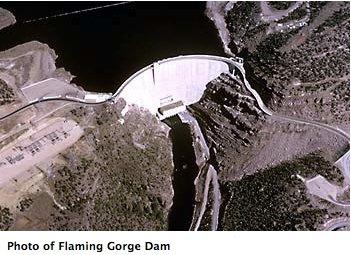 Flaming Gorge Dam. Photo credit: USBR