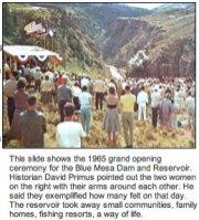 Blue Mesa groundbreaking ceremony 1965