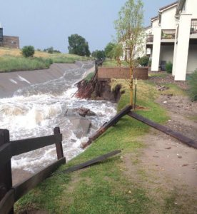 Channel erosion Colorado Springs July 2012 via The Pueblo Chieftain