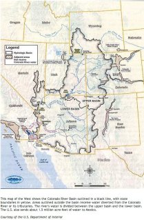 Colorado River Basin including out of basin demands -- Graphic/USBR