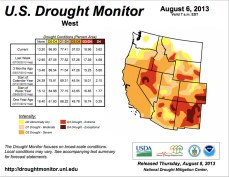 US Drought Monitor August 6, 2013