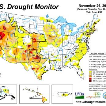 US Drought Monitor November 26, 2013
