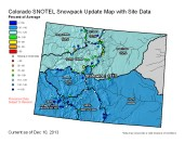 Statewide Snowpack Map December 10, 2013 via the NRCS