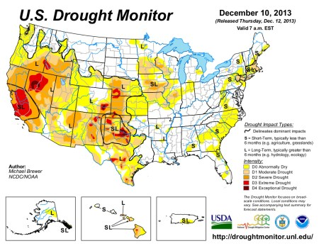US Drought Monitor December 10, 2013