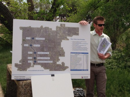 Michael Bouchard (Denver Parks and Recreation) with details about planned recreational development along the river through Denver