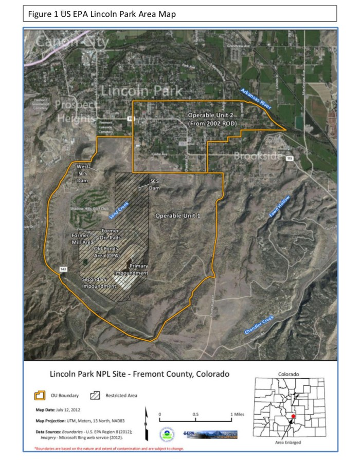 Lincoln Park/Cotter Mill superfund site via the Environmental Protection Agency