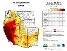 West Drought Monitor October 28, 2014