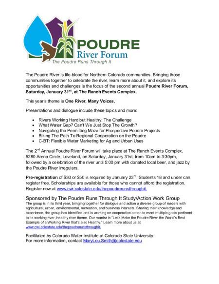 Poudre River Forum Flyer 01312015