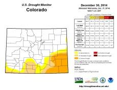 Colorado Drought Monitor December 30, 2014