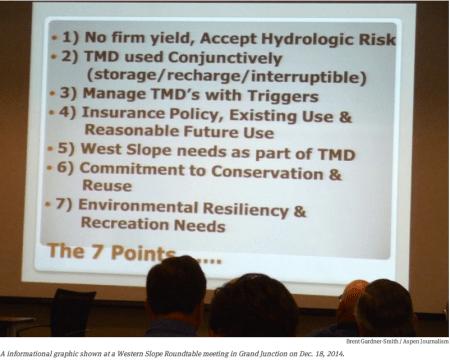 Seven-point draft conceptual agreement framework for negotiations on a future transmountain diversion screen shot December 18, 2014 via Aspen Journalism