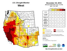 West Drought Monitor December 30, 2014