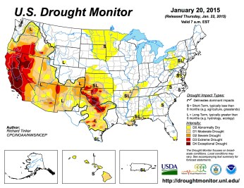 US Drought Monitor January 20, 2015