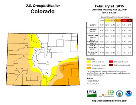 Colorado Drought Monitor February 24, 2015