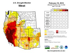 West Drought Monitor February 10, 2015