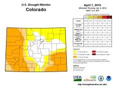 Colorado Drought Monitor April 7, 2015