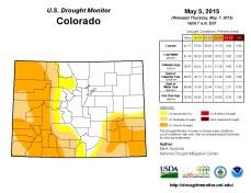 Colorado Drought Monitor May 5, 2015