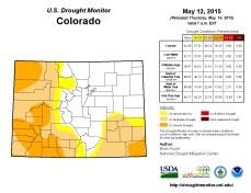 Colorado Drought Monitor May 12, 2015