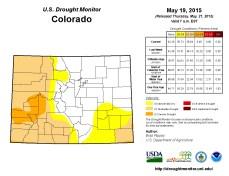Colorado Drought Monitor May 19, 2015