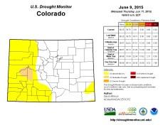 Colorado Drought Monitor June 9, 2015