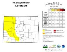 Colorado Drought Monitor June 23, 2015