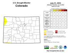 Colorado Drought Monitor July 21, 2015