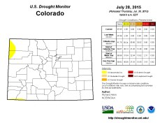 Colorado Drought Monitor July 28, 2015