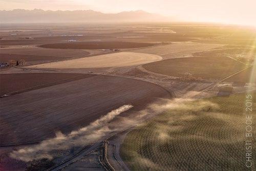 Sunrise over the Sangre de Cristos, overlooking the San Luis Valley, April 11, 2015