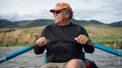 Steve Vandiver enjoys a river float.