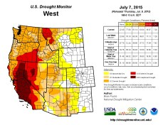 West Drought Monitor July 7, 2015