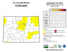 Colorado Drought Monitor September 22, 2015