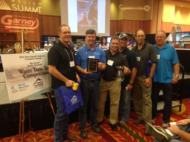 Taste test Winner.Castle Rock. September 14, 2015 Rocky Mountain Section AWWA.