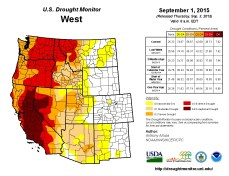 West Drought Monitor September 1, 2015