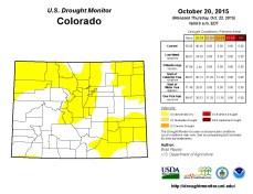 Colorado Drought Monitor October 20, 2015