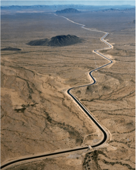 The Central Arizona Aqueduct delivers water from the Colorado River. Photo credit: U.S. Bureau of Reclamation