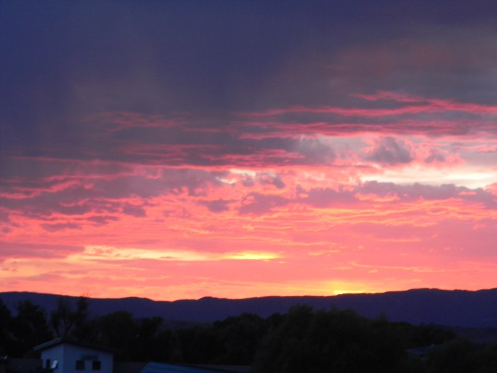 Sunset over the Yampa River Valley August 25, 2016.