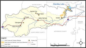 Clear Creek, Standley Lake watersheds including the Standley Lake Canal Zone via the Clear Creek Watershed Foundation.