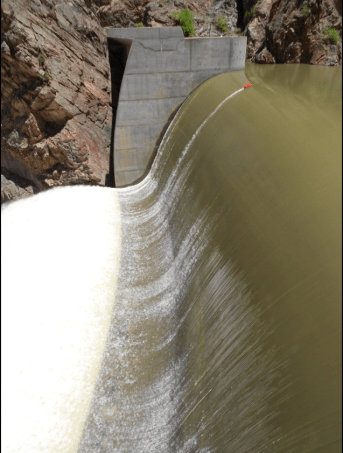 Crystal Dam, part of the Colorado River Storage Project, Aspinall Unit. Credit Reclamation.