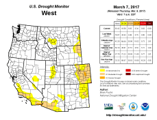 West Drought Monitor March 7 2017.