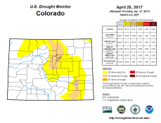 Colorado Drought Monitor April 25, 2017.