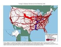 Tonnage shipped snake diagram via U.S. Department of Transportation.