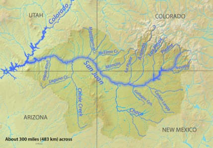 San Juan River Basin. Graphic credit Wikipedia.