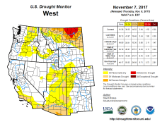 West Drought Monitor November 7, 2017.